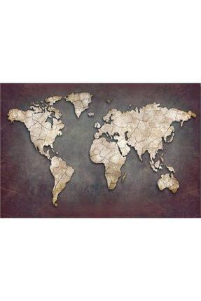 iyi fikir Dünya Haritası Kanvas Tablo 60x100 Cm.