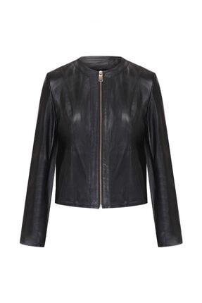 W Collection Kadın Siyah Fermuarlı Ceket