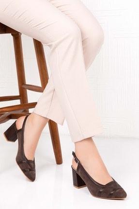 Gondol Kadın Kahve Süet Hakiki Deri Topuklu Ayakkabı 41 Şhn.0075