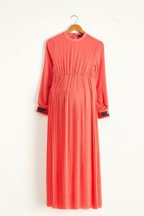 LC Waikiki Kadın Koyu Mercan Elbise 0WAI83Z8