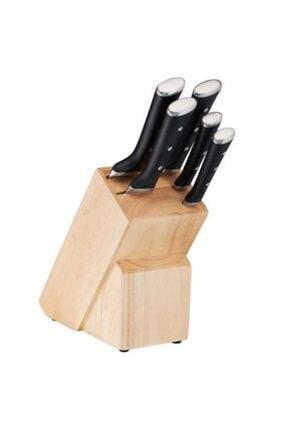 TEFAL Ice Force 6 Parça Bıçak Set: 5 Paslanmaz Çelik Bıçak + 1 Ahşap Blok