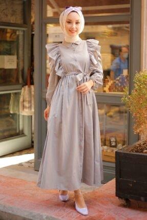 Gigi Kadın Gri Tesettür Elbise