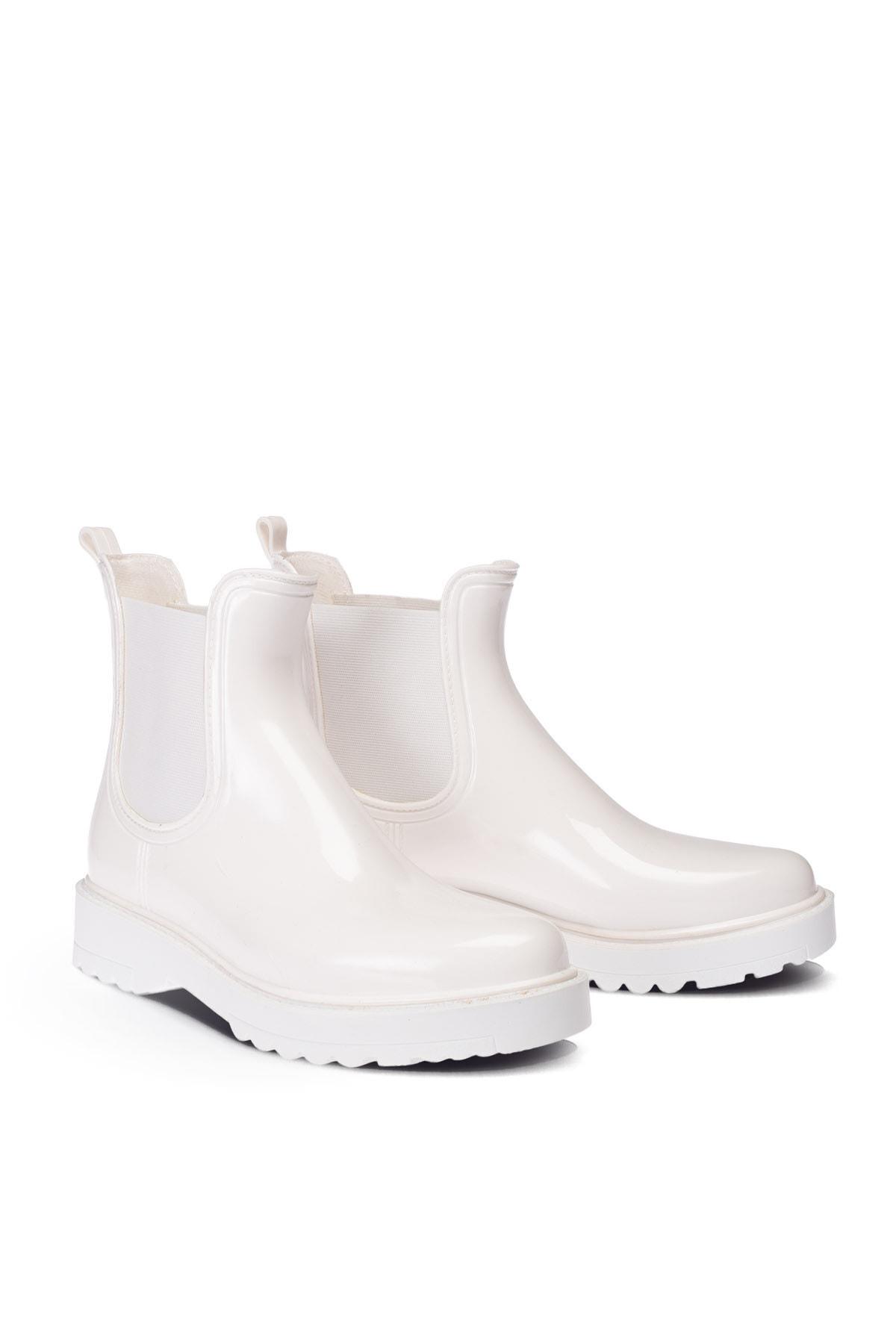 Deery Beyaz Kadın Yağmur Botu 2
