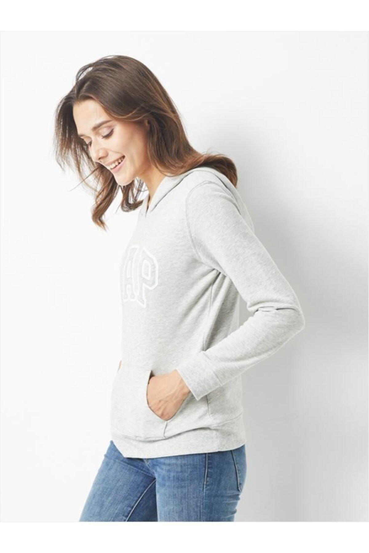 GAP Kadın Logo Kapüşonlu Sweatshirt 527507 2