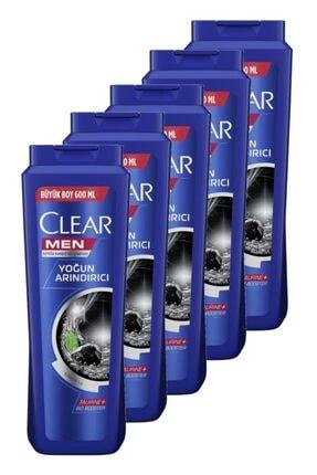 Clear Men Yoğun Arındırıcı Şampuan 600 Ml. Beşli Set