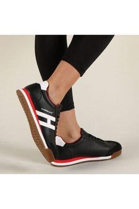 Hammer Jack 102 20000-g   Kadın Siyah Bağcıklı Sneakers Ayakkabı