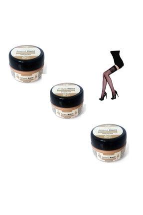 Daymod Whitening Cream Arnavut Kremi (50ml) 3 Adet & Elegance Desenli Jartiyer Çorap