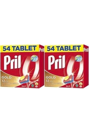 Pril Gold 12 Etki Bulaşık Makinesi Deterjanı 54 Tablet 2 Adet ( 108 Tablet )