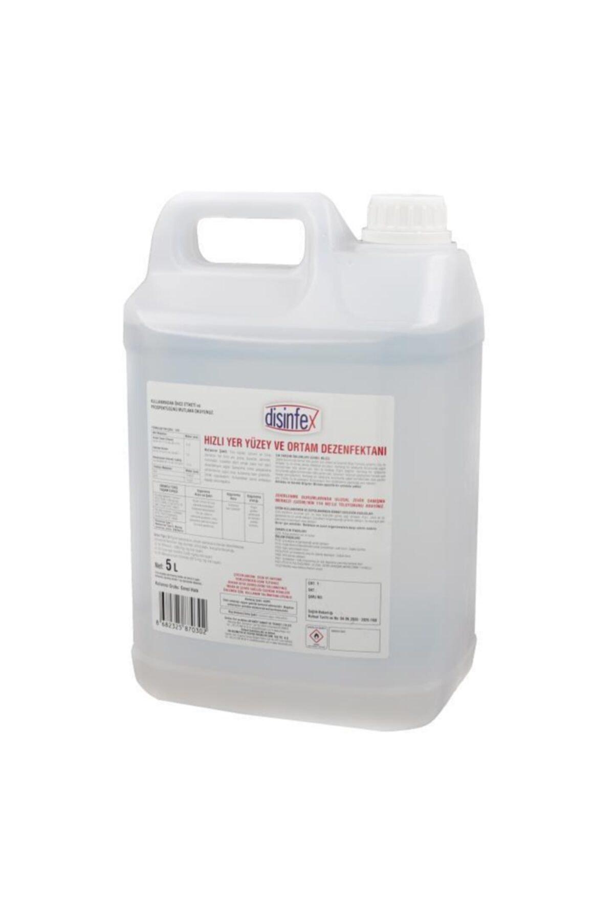 Disinfex 5 Litre Hızlı Yer Yüzey Ortam Ve Paspas Dezenfektanı 2