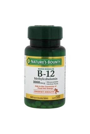 Nature's Bounty Vitamin B-12 Methylcobalamin 1000uq 60 Tablet Skt:01/2023