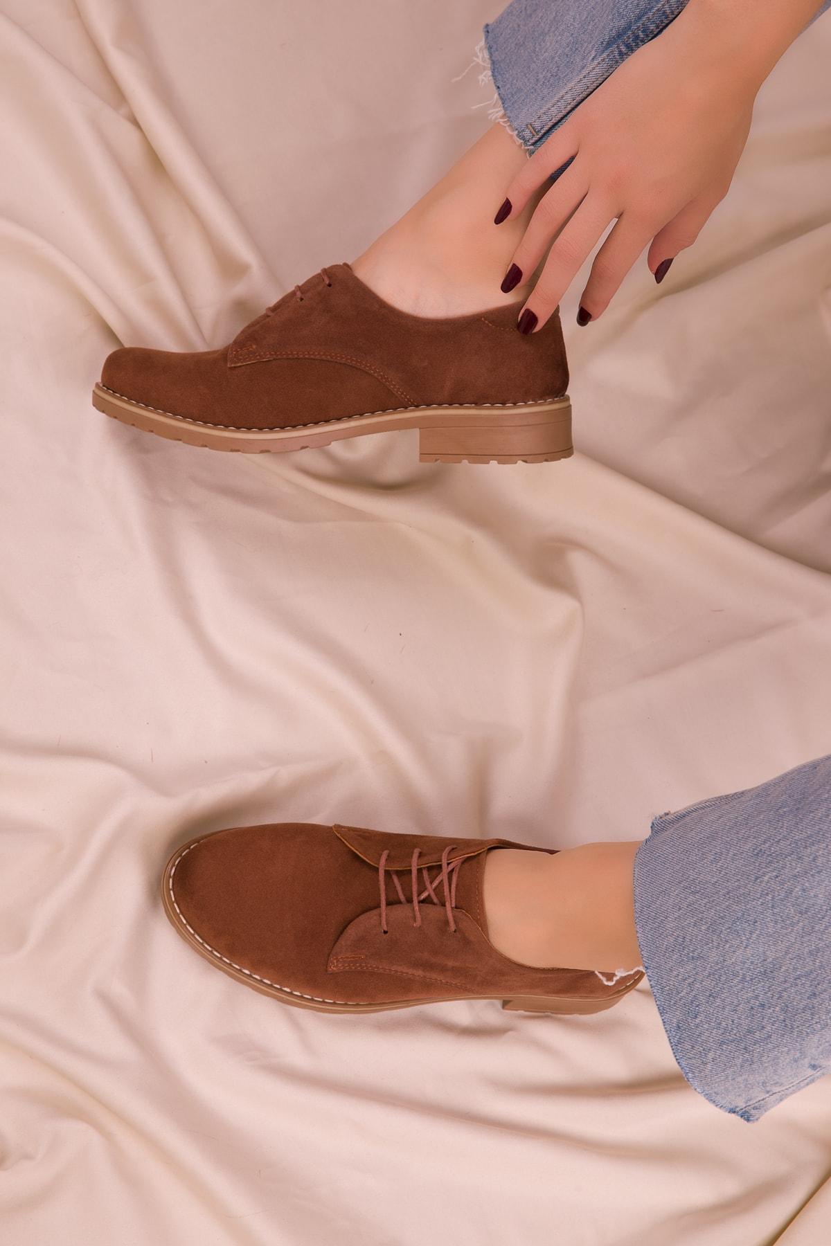 SOHO Taba Süet Kadın Casual Ayakkabı 15440 2