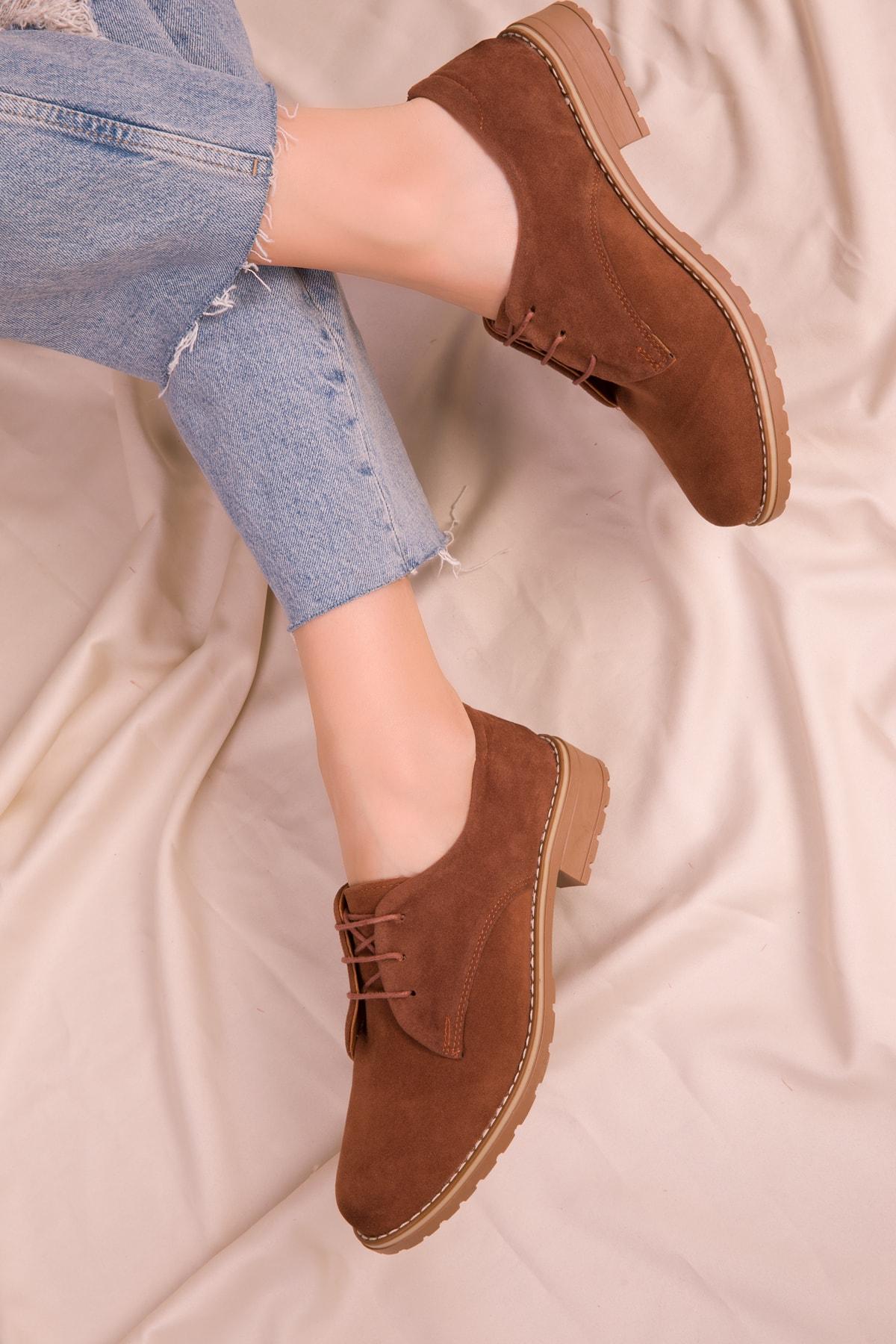 SOHO Taba Süet Kadın Casual Ayakkabı 15440 1