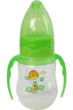 Bambino Pp Geniş Ağızlı Kulplu Biberon-yeşil 150ml