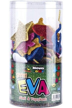 Nova Color Şekilli Eva Simli Yapışkanlı 35g Nc-451