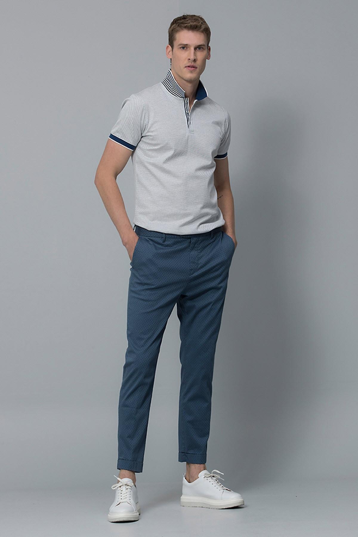 Lufian Vicent Smart Chino Pantolon Slim Fit Açık Lacivert 2