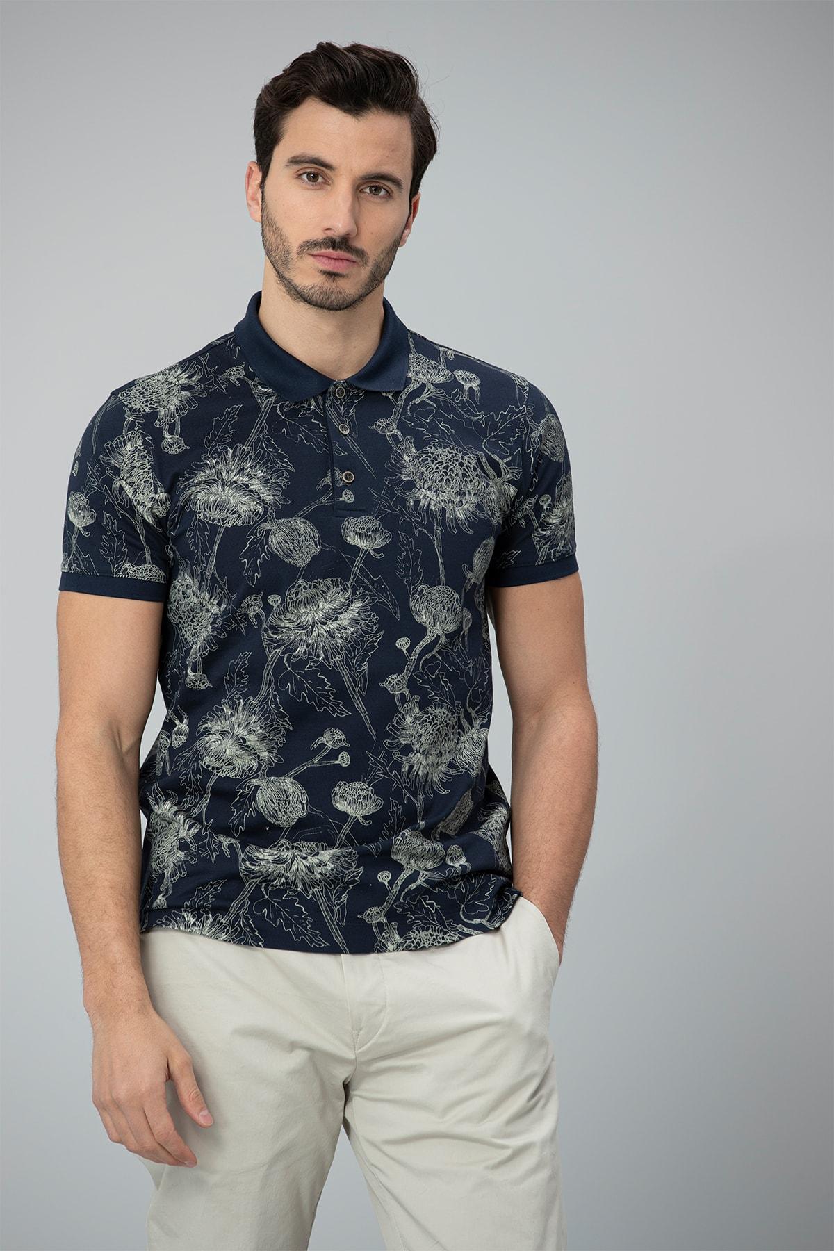 Lufian Capri Spor Polo T- Shirt Lacivert