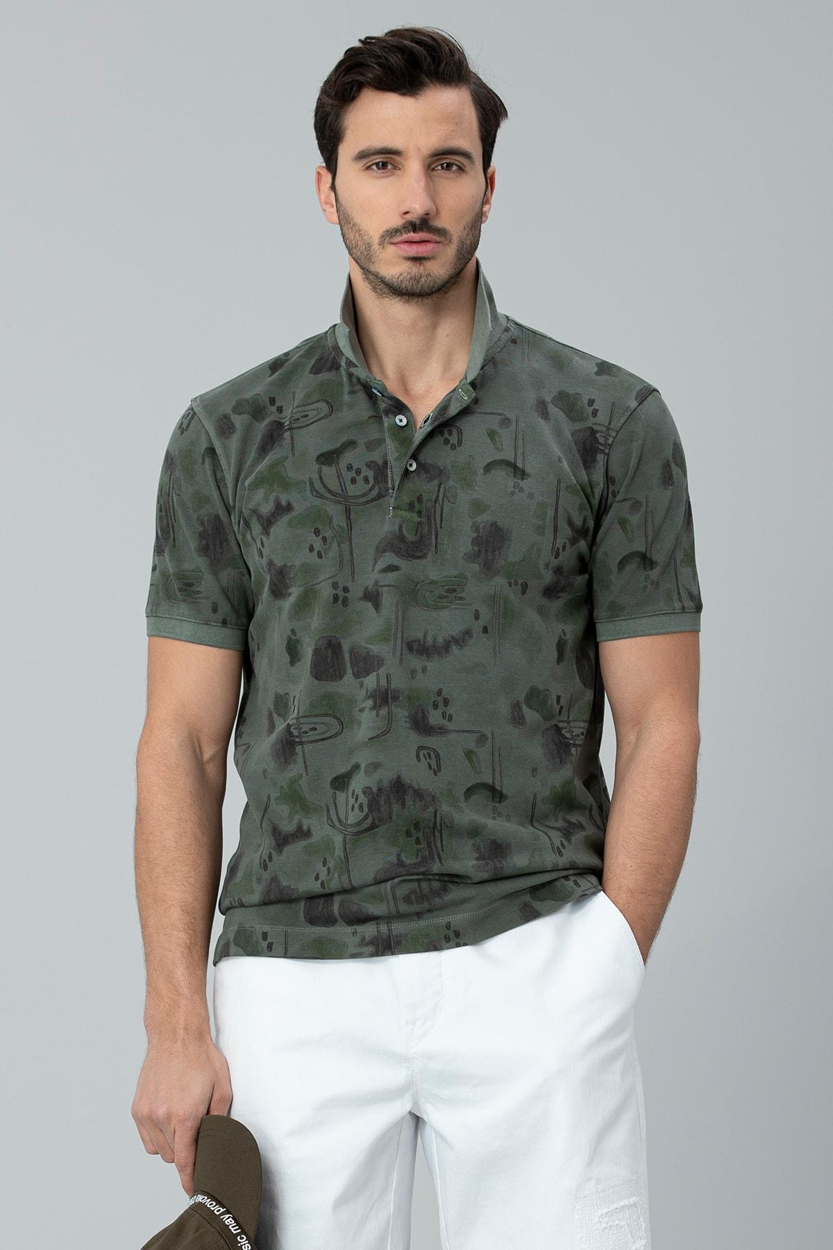 Lufian Brest Spor Polo T- Shirt Açık Yeşil