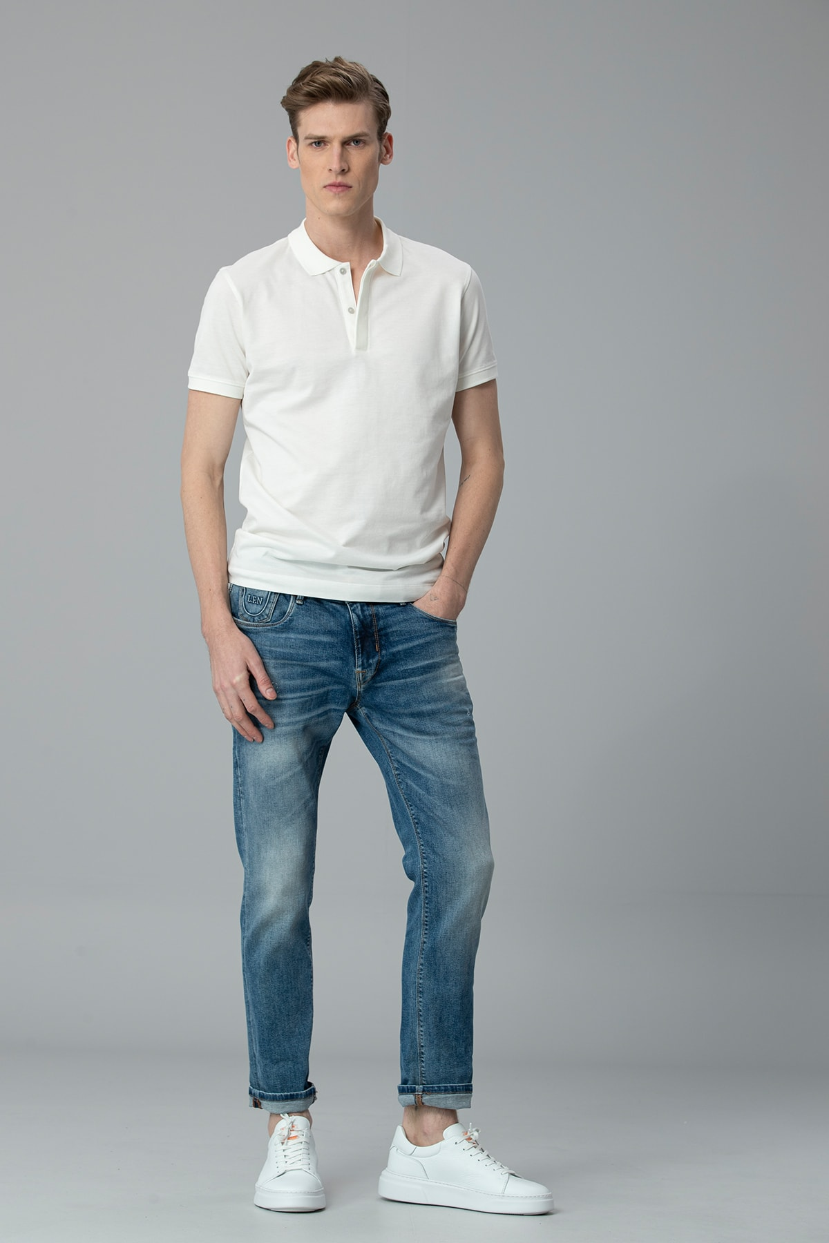 Lufian Bertus Smart Jean Pantolon Slim Fit Mavi