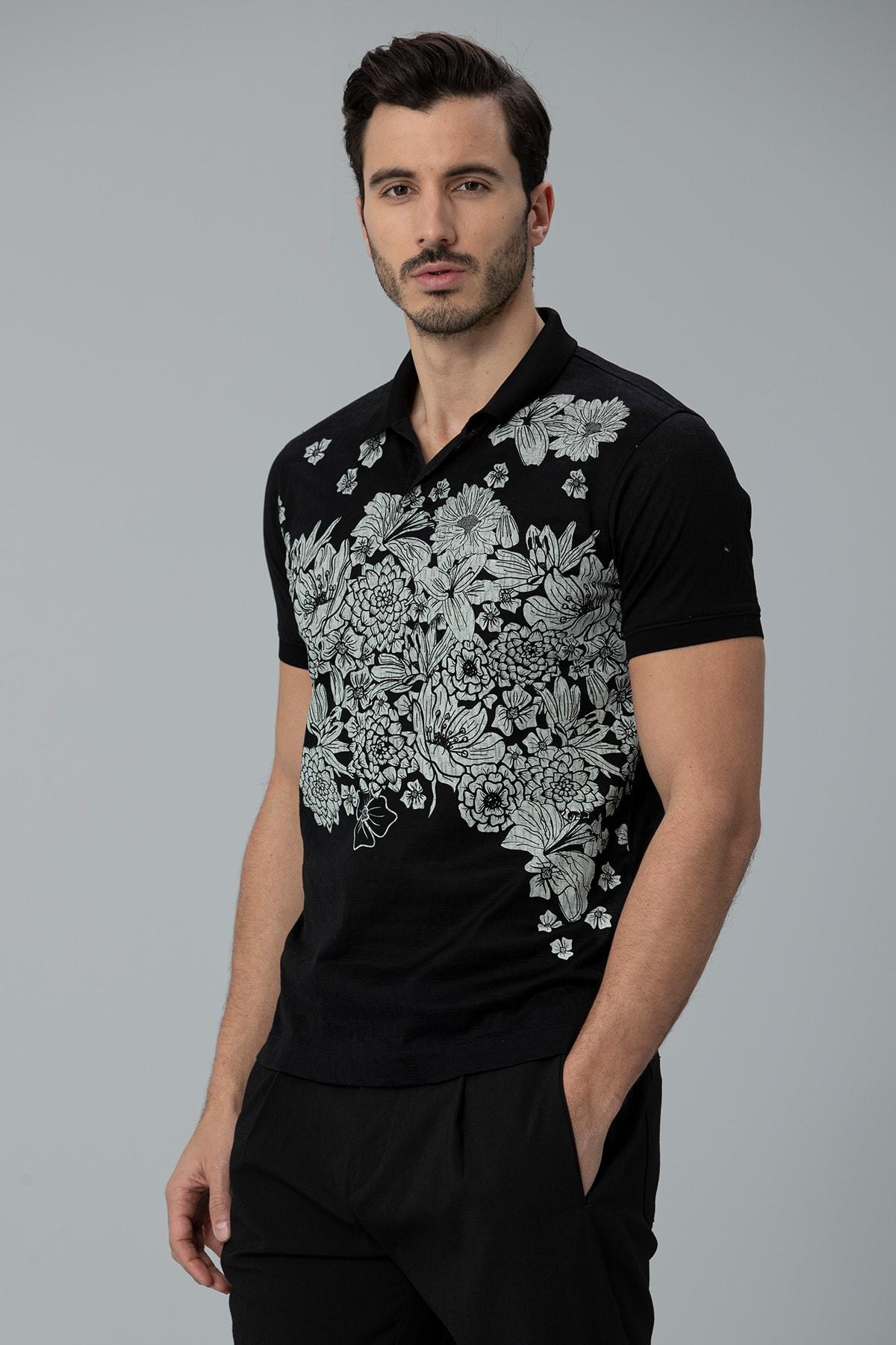 Lufian Matera Spor Polo T- Shirt Siyah