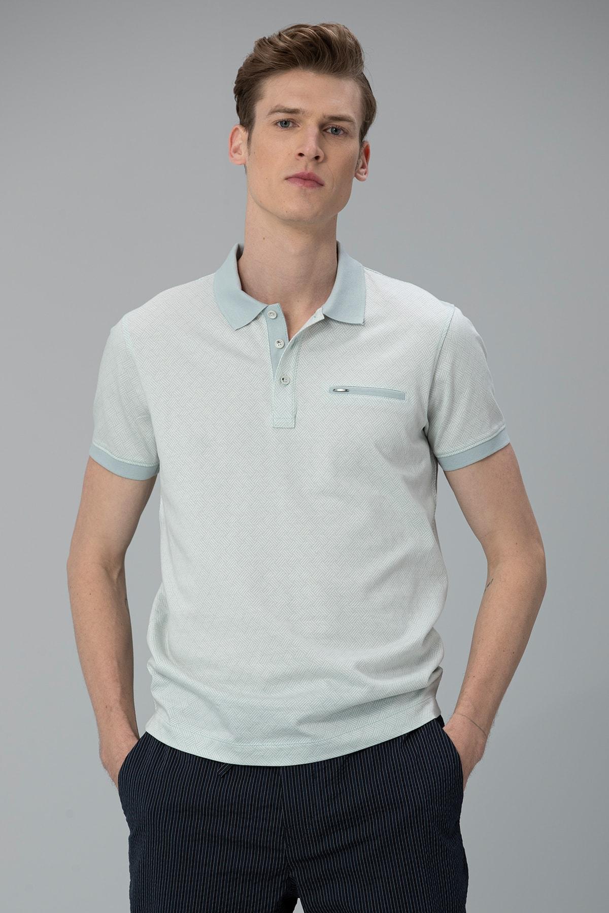Lufian Sammar Spor Polo T- Shirt Açık Mavi