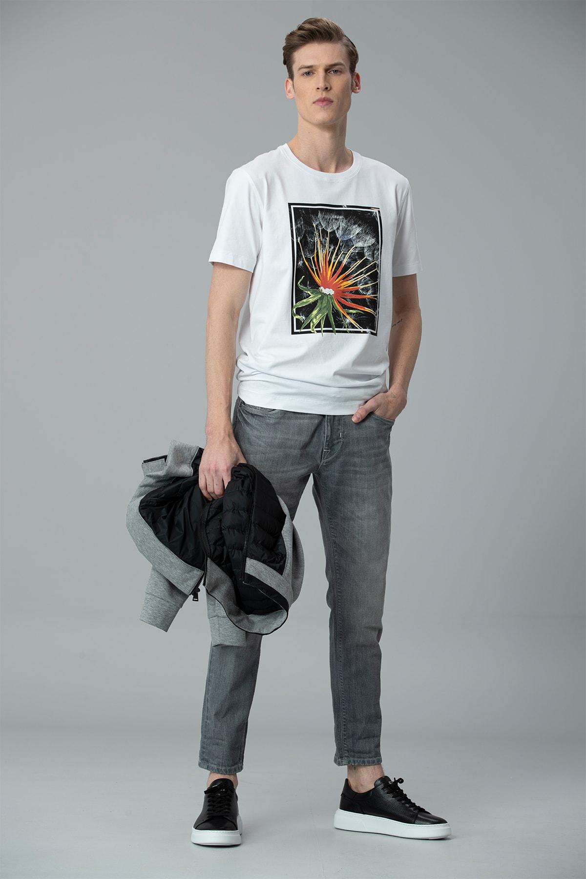 Lufian Felıta Modern Grafik T- Shirt Beyaz