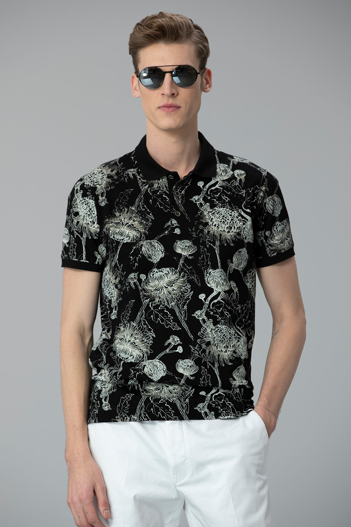 Lufian Capri Spor Polo T- Shirt Siyah