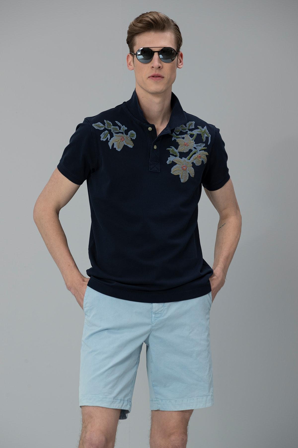 Lufian Forli Spor Polo T- Shirt Lacivert