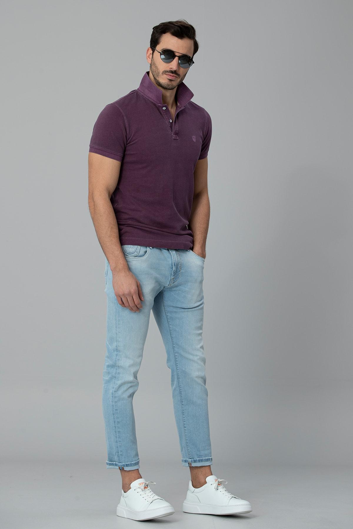 Lufian Boozer Smart Jean Pantolon Slim Fit Gök Mavi