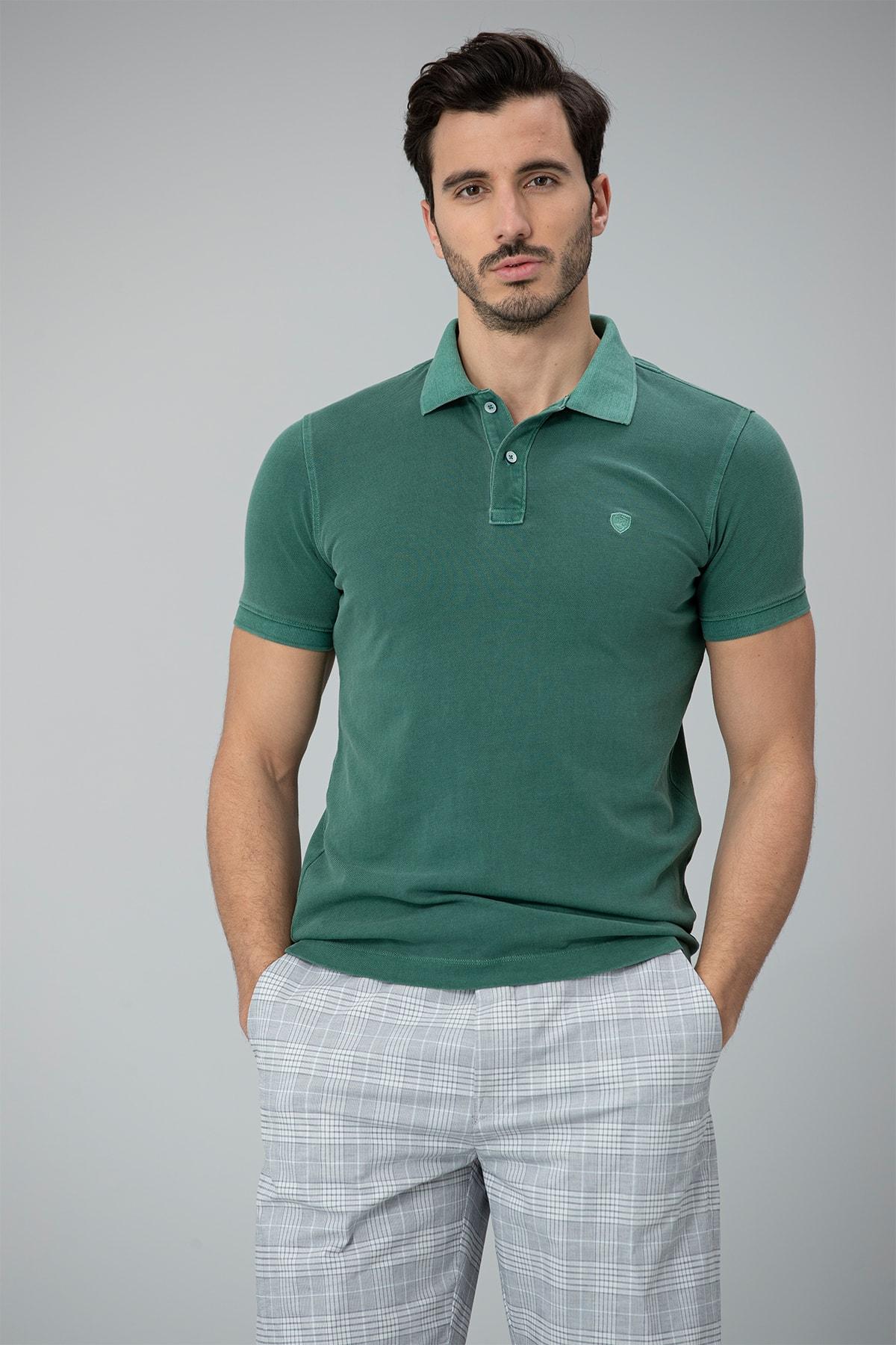 Lufian Erkek Yeşil Vernon Spor Polo T- Shirt