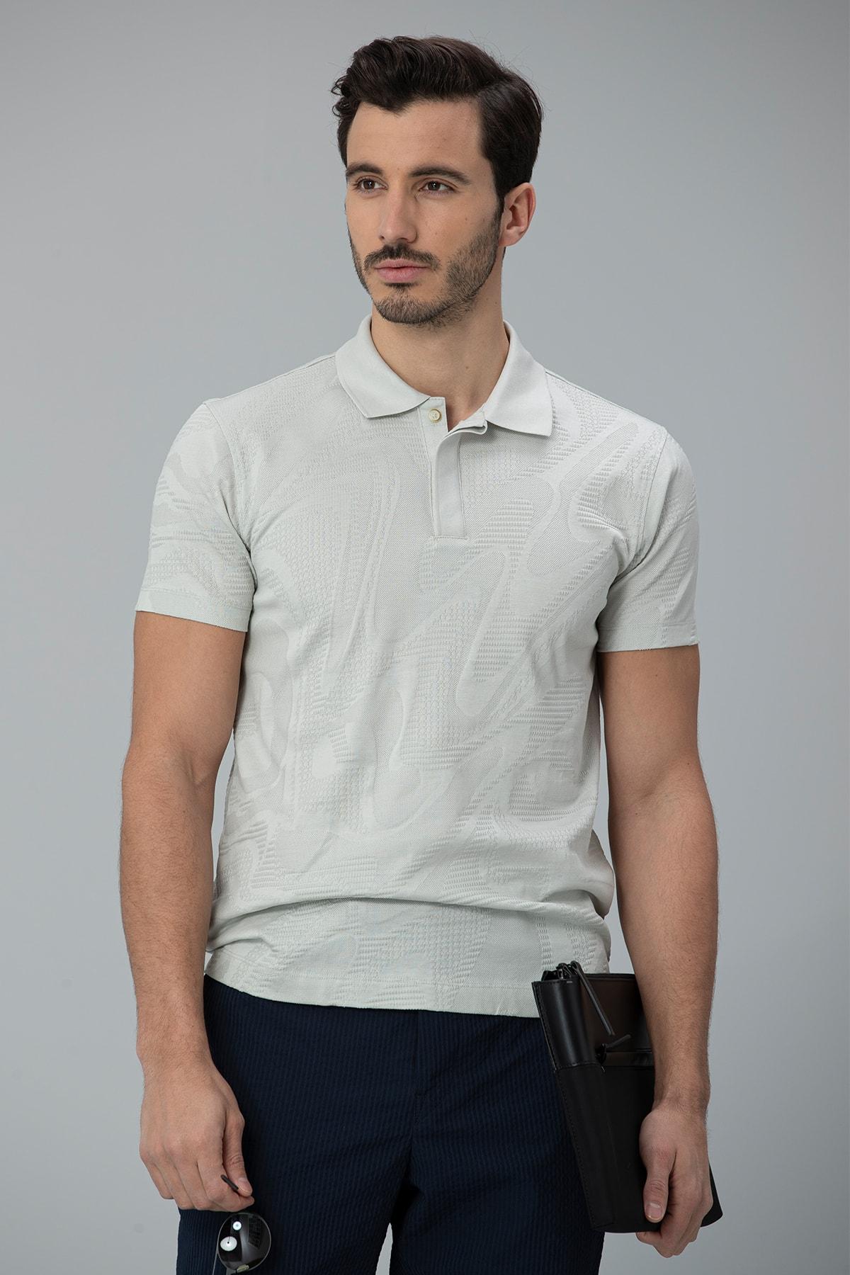 Lufian Perm Spor Polo T- Shirt Taş