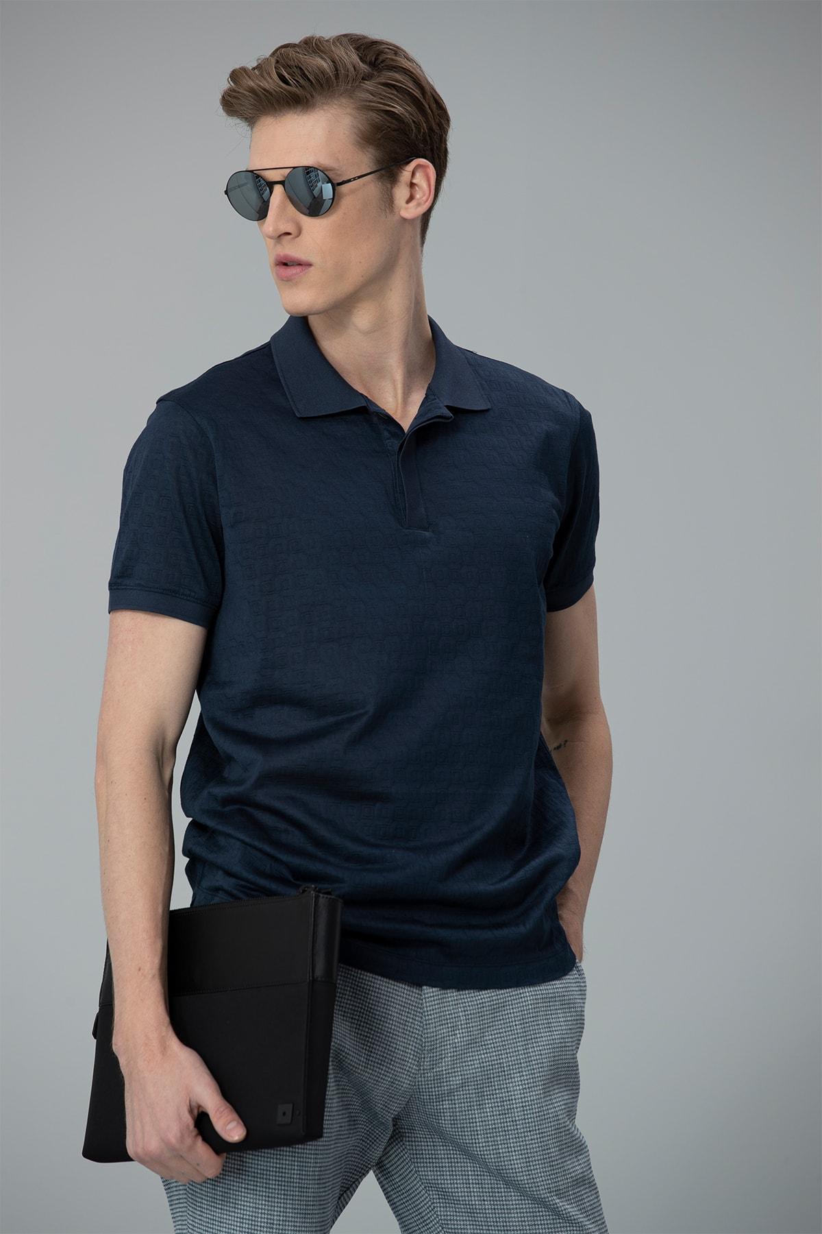 Lufian Clar Spor Polo T- Shirt Lacivert