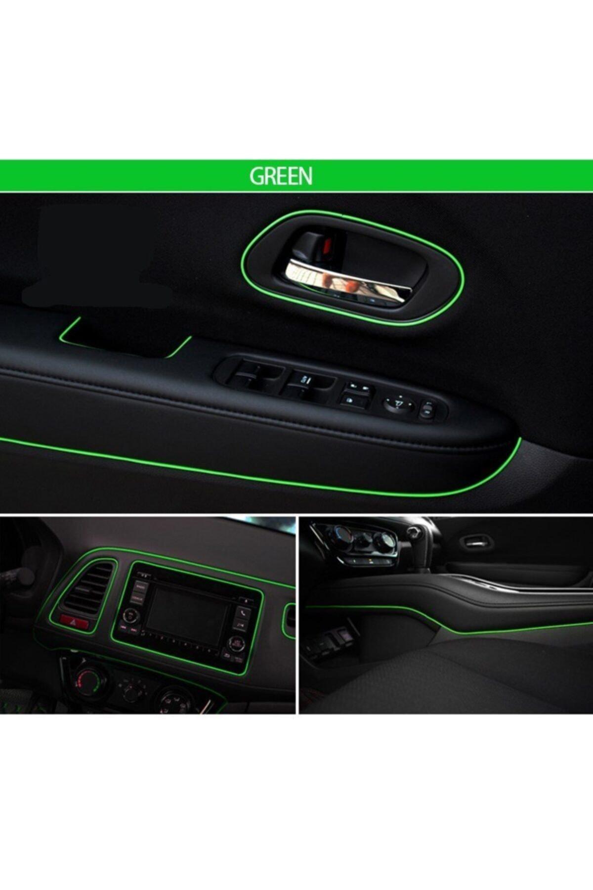 BoostZone Araç Içi Ip Şerit Torpido Fitili Yeşil 5 Metre 1