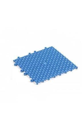 BİRTIKLASİZDE Mavi Plastik Kırılmaz Yer Karosu Zemin Kaplaması 1m2 ( 16 Adet ) 25 X 25 Cm