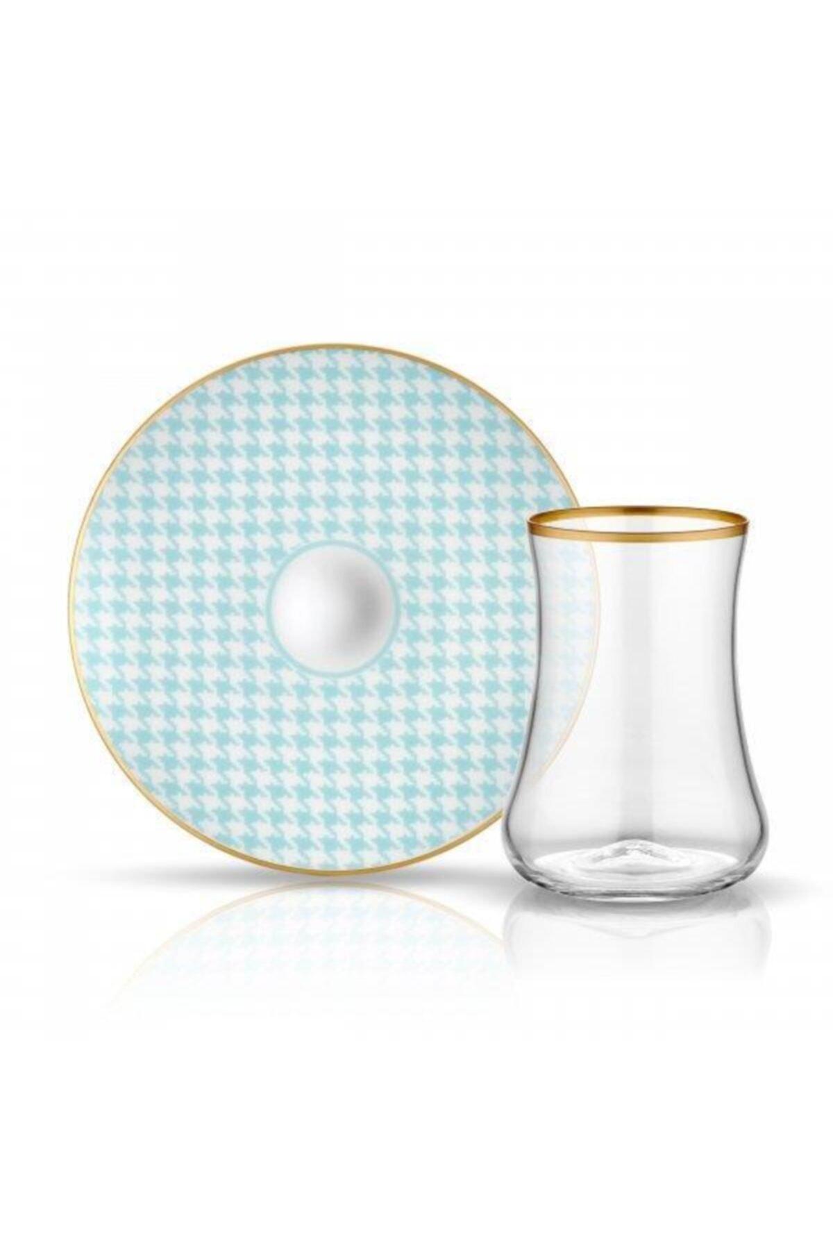 Koleksiyon Turkuaz  Dervish Ekose Çay Seti 6'lı 1