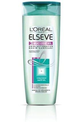L'Oreal Paris L'oréal Paris Elseve 3 Mucizevi Kil Ağırlaştırmayan Bakım Şampuanı, 360 Ml