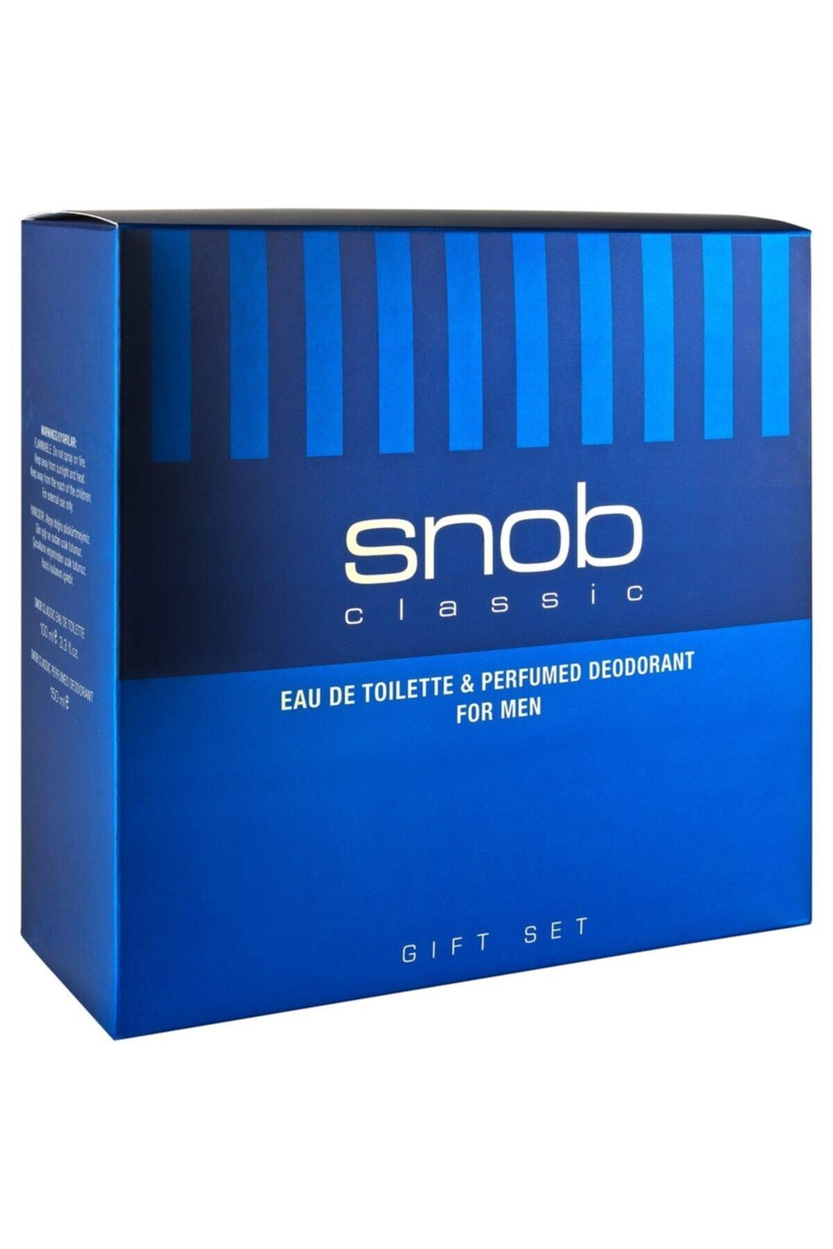 Snob Classic Erkek Parfum Seti 1
