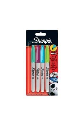Sharpie Fine Canlı Renkler Permanent Markör 4'lü Set