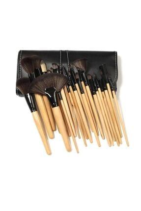 RİO BEAUTY Bambu Siyah Makyaj Fırça Seti- Profesyonel Çantalı 24 Parça