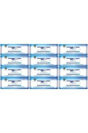 Bluewhite Yetişkin Hasta Vücut Temizleme Mendil-havlusu (12 Li Set) 50 Yaprak Hijyenik