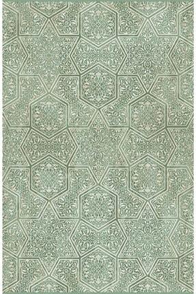 Sanat Halı Zirve Koleksiyonu Yeşil Halı 200x290 2161