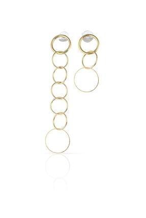Duke Nickle Kadın Sarı Zincir Küpe Rdpk5163