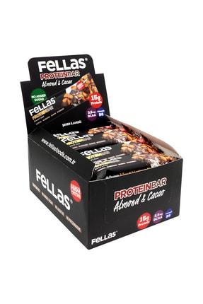 Fellas Yüksek Protein Bar - Badem Ve Kakao 45 Gr X 12 Adet