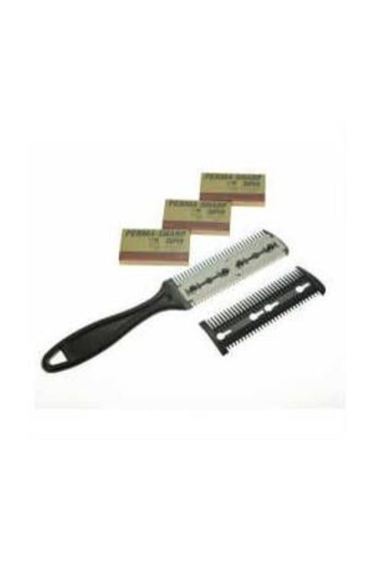 Accessorize Jiletli Tarak Saç Usturası Hac Usturası 15 Adet Perma Sharp Yapra 1