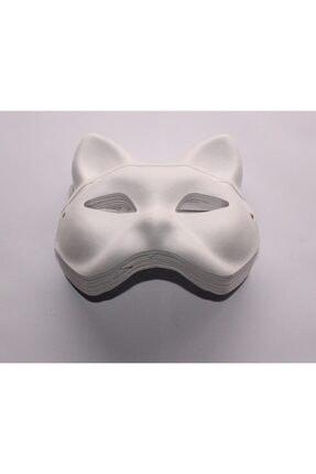 Joy and Toys Karton Maske Lastikli Boyanabilir Kedi Maske - Boyama Maskesi ( 5 Adet )