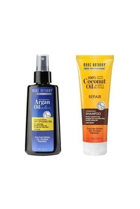 MARC ANTHONY Coconut Biotin Yıpranmış Saç Şampuanı 250 Ml+argan Ve Keratin Kuru Yağ 120 Ml