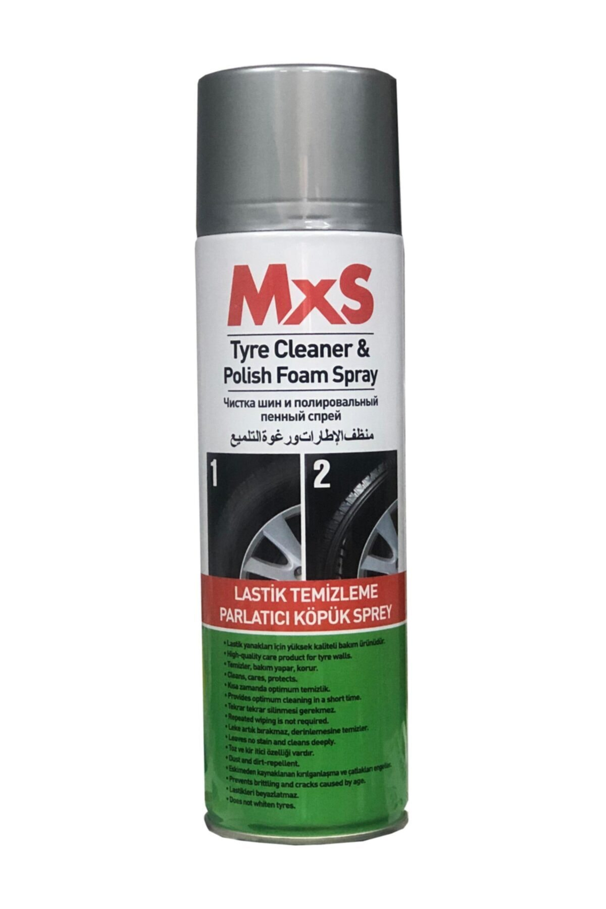 MxS Oto Lastik Parlatıcı Ve Siyahlaştırıcı Sprey Köpük 500 Ml 1