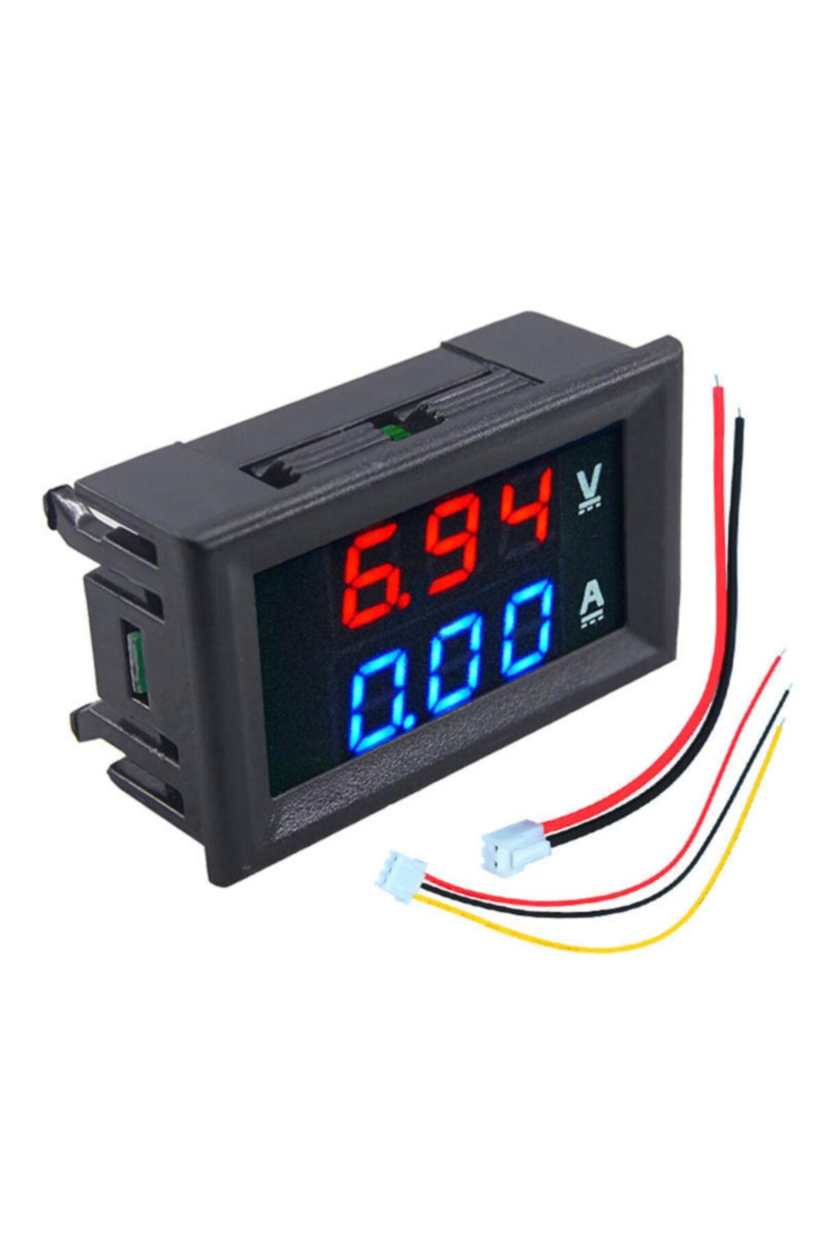 BAKAY Dijital Ampermetre 0-10a Voltmetre 0-30v - Kasalı 1