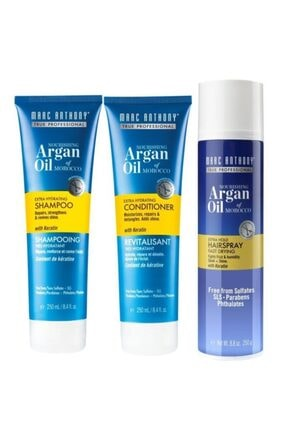 MARC ANTHONY Argan Oil 3 Lü Set(şampuan 250 Ml +saç Kremi 250 Ml + Saç Spreyi 250 Ml