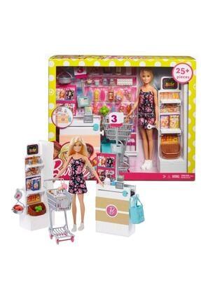 mattel Barbie Süpermarkette Oyun Seti Frp01