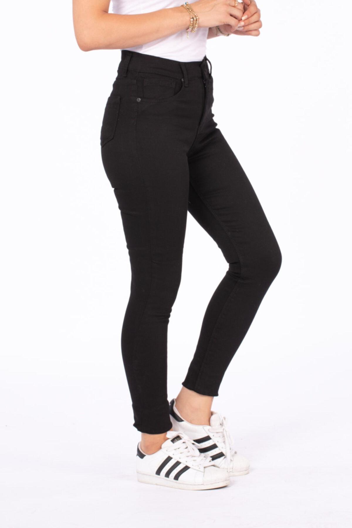 BARRELS AND OIL Kadın Siyah Yüksek Bel Pantolon 210 1